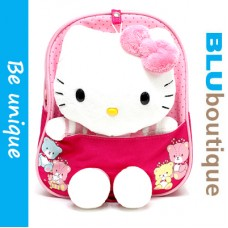 Sanrio Hello Kitty Toddler Backpack in Pink *detachable plushie and belt