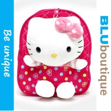 Sanrio Hello Kitty Toddler Backpack in Passion Pink *detachable plushie and belt