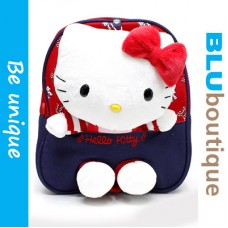 Sanrio Hello Kitty Toddler Backpack in Red Blue *detachable plushie and belt