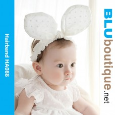 Baby Butterfly Hair Band White