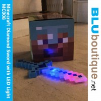 Minecraft Diamond Sword with LED light and Sound *excluding box helmet
