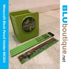 Minecraft Block Pencil Holder with stationery