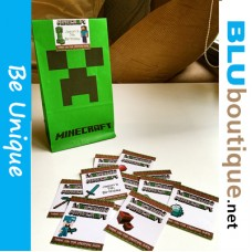 Minecraft Creeper paper bag with sticker (pack of 10 pieces)