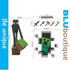 Minecraft Enderman Creeper Removable Vinyl Decals Wallpaper
