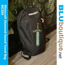 Minecraft Diamond Sword Outdoor travel Bag Black