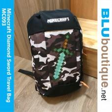 Minecraft Diamond Sword Outdoor travel Bag Army Brown Black