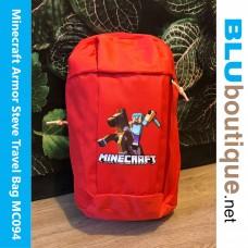 Minecraft Armor Steve Outdoor travel Bag Red