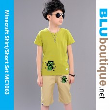 Minecraft Creeper Children T-shirt with Short