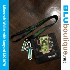 Minecraft Creeper Wallet with Lanyard