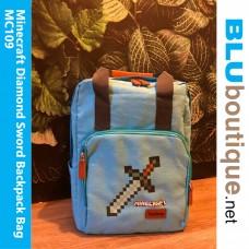 Minecraft Diamond Sword Backpack School Bag