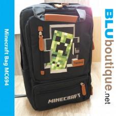 Minecraft Creeper Backpack School Bag
