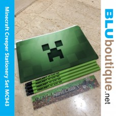 Minecraft Creeper Pencil Case Stationery Set