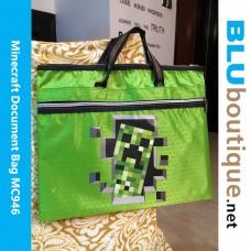 Minecraft Creeper Document Bag