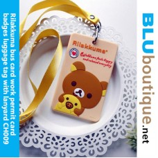 Rilakkuma Card Holder with Lanyard