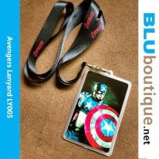 Avengers lanyard With Captain America Card Holder