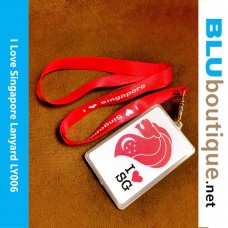 I Love Singapore lanyard With Card Holder