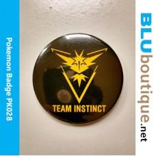 Pokemon Team Instinct 58mm Badge