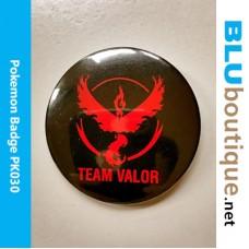 Pokemon Team Valor 58mm Badge