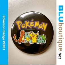 Pokemon 58mm Badge